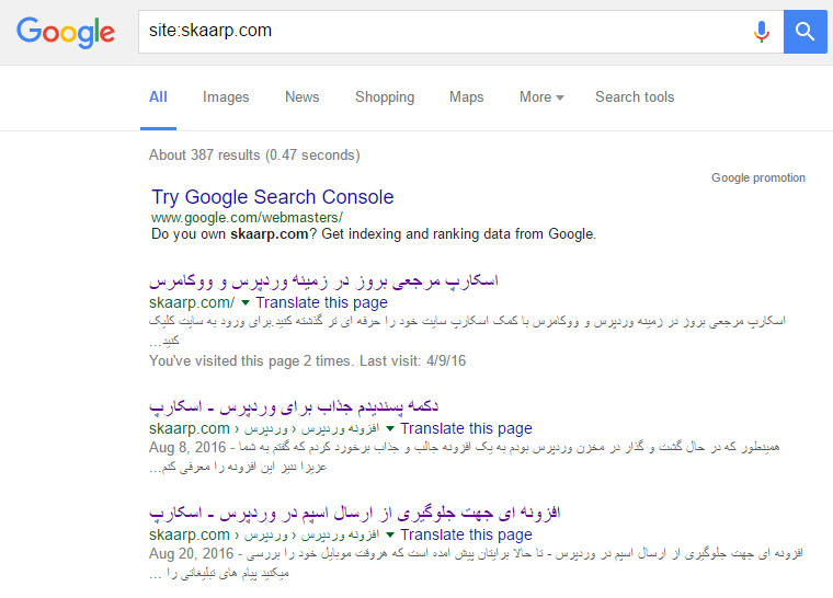 wordpress-site-content-indexed-in-google-1