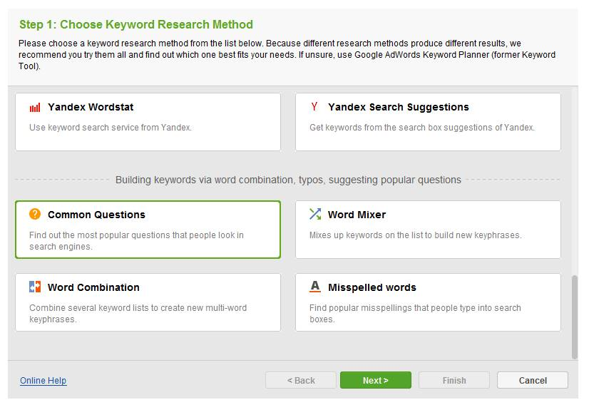 keyword research by rank tracker